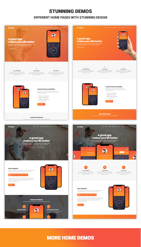 Android app landing page
