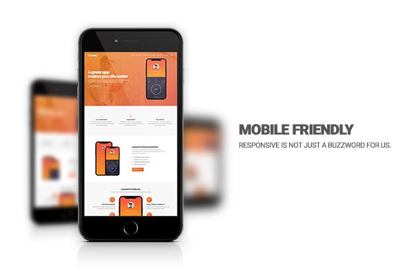 Modern app landing page